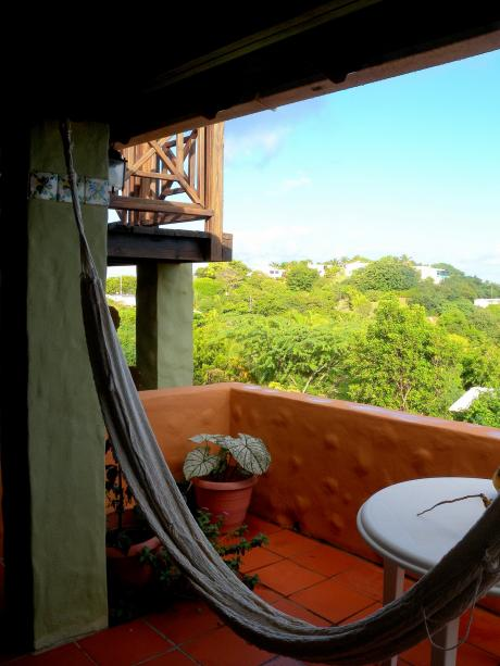 hammock on the porch of Casa Piloto